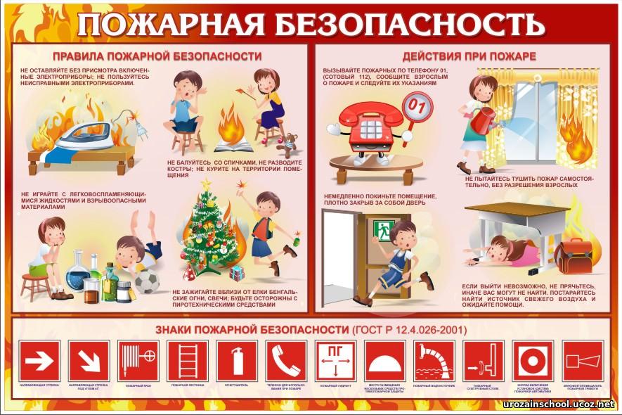 Урожайновская школа - Пожарная безопасность